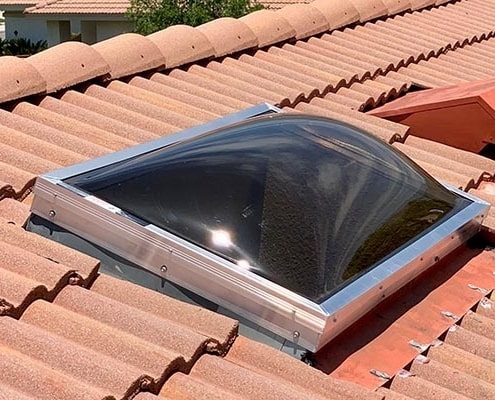 Bronze Dome replacement tile roof