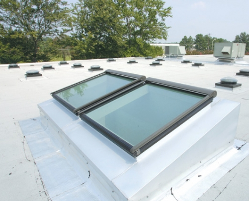 Commercial glass skylights