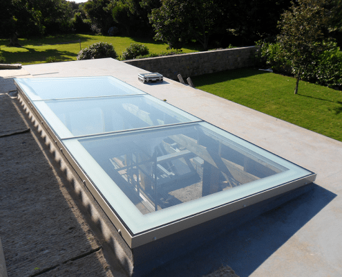 Souther California Custom Flat Glass Skylight repair