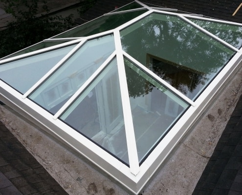 OC Custom Glass Hip Ridge Skylight