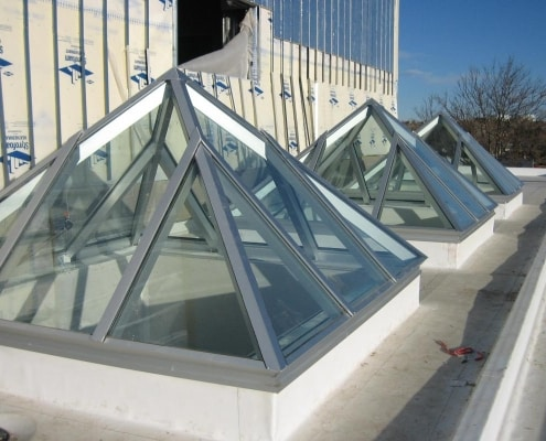 Glass Pyramid Skylights