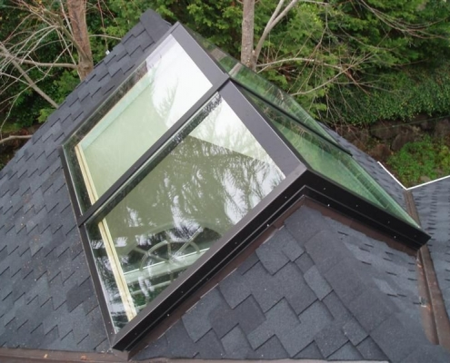Custom Glass Ridge Skylight