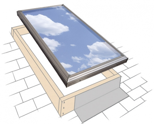 Curb Mounted Glass Skylight Install